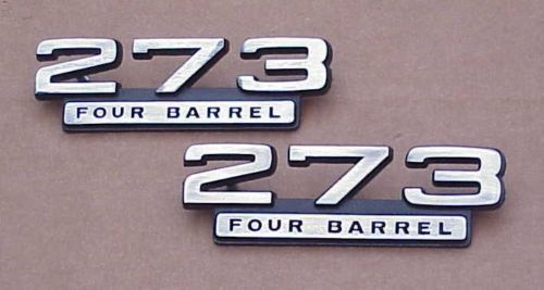 New 1965-67 Plymouth Dodge 273 Four Barrel Emblem